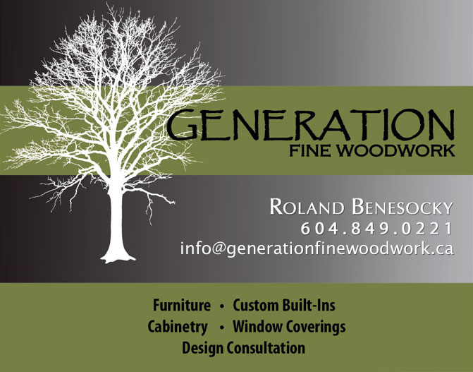 Generation Fine Woodwork ~ info@generationfinewoodwork.ca
